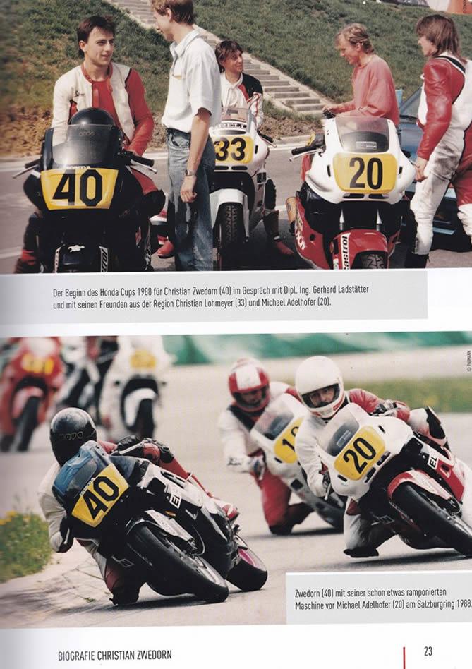 """Auszug Buch """"Legenden Des Motorradsports - Christian Zwedorn"""" Seite 23"""