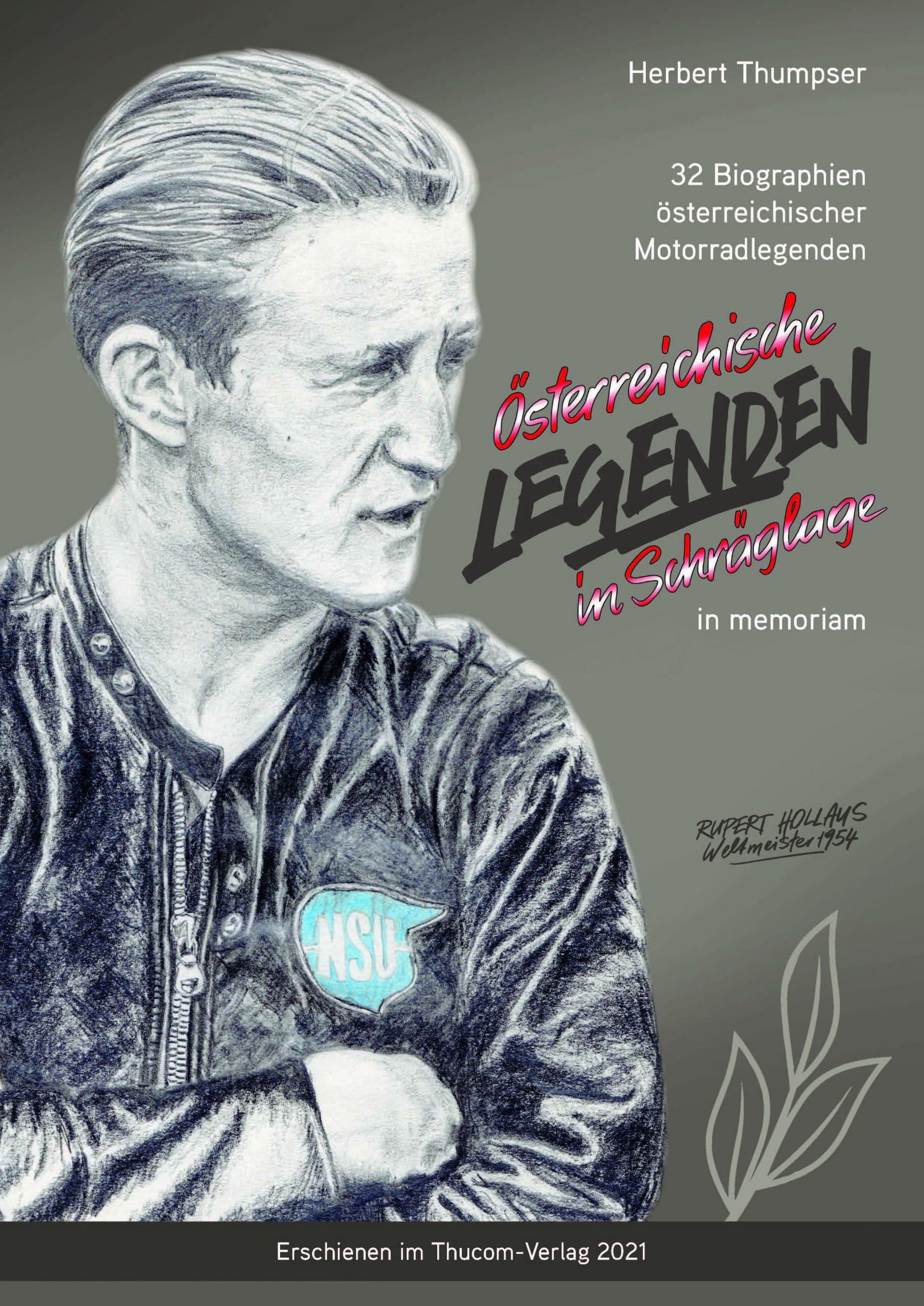 """Cover Buch """"Legenden Des Motorradsports - Wolfgang Stropek"""""""